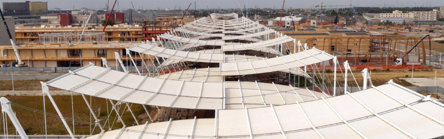 Expo 2015 - Covering tensile structures